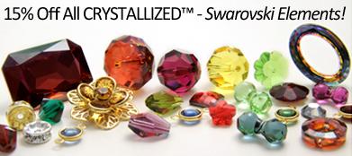15% Off Swarovski Crystals