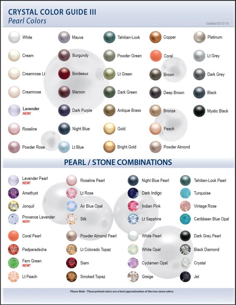Swarovski Color Chart III Pearl