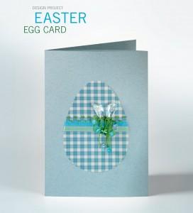 Swarovski DIY guide Easter Egg Card