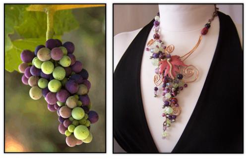 Carmen Rose Grape Necklace Design