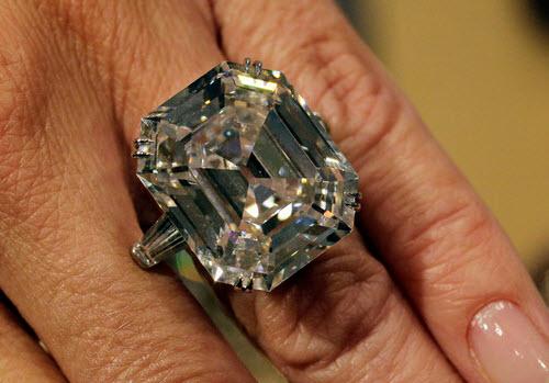 Asscher Cut Krupp Diamond Engagement Ring