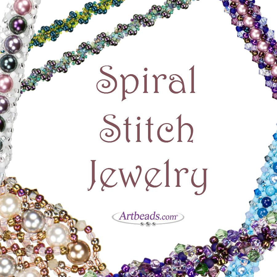 spiral stitch jewelry