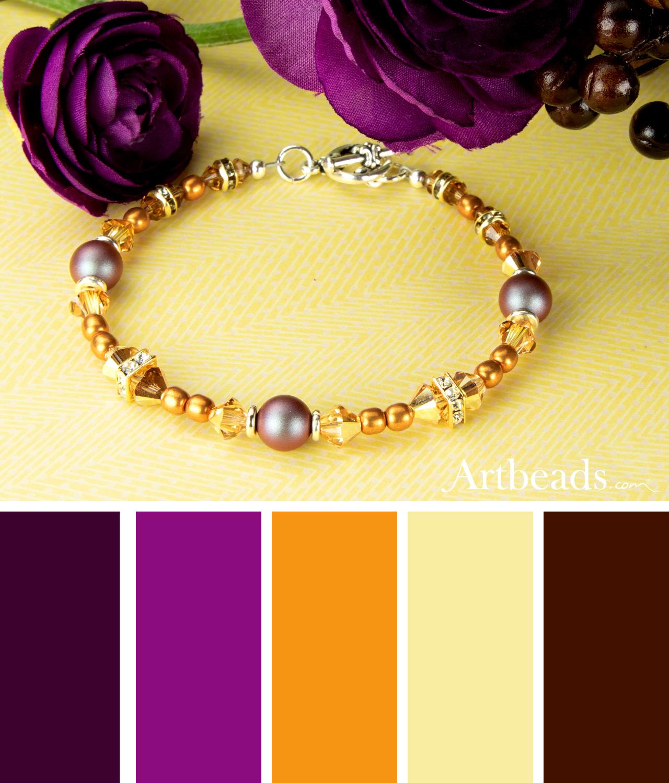 Daylily Bracelet Artbeads Spring Color Palette