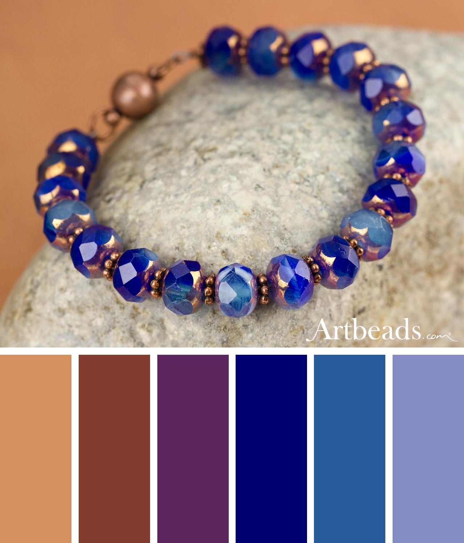 Grand Canyon Falls Bracelet Color Palette from Artbeads.com