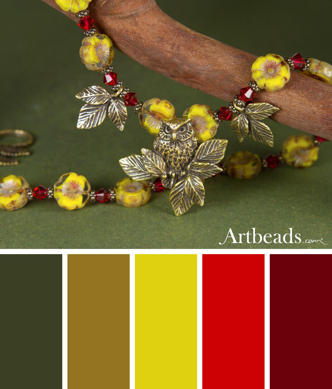 Owl Garden Color Palette from Artbeads.com