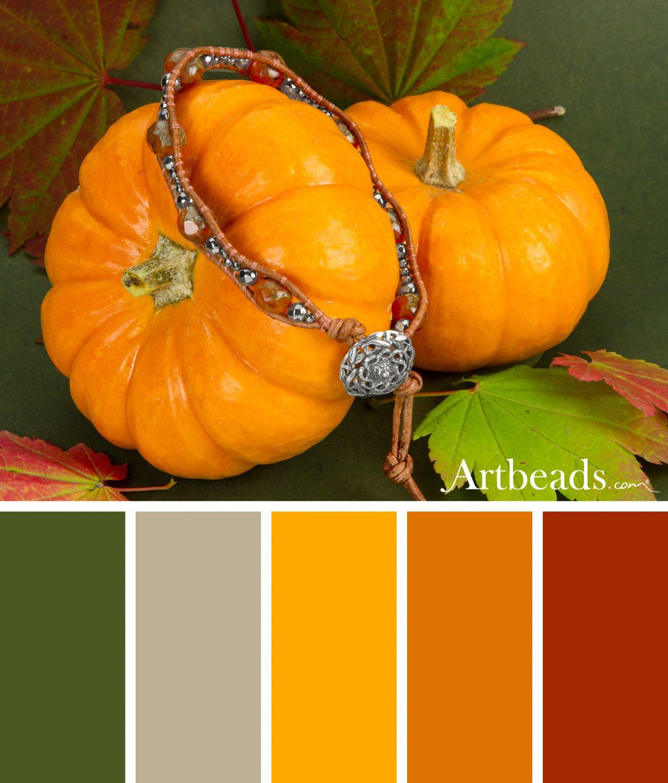 Inspiring Fall Color Palette from Artbeads.com