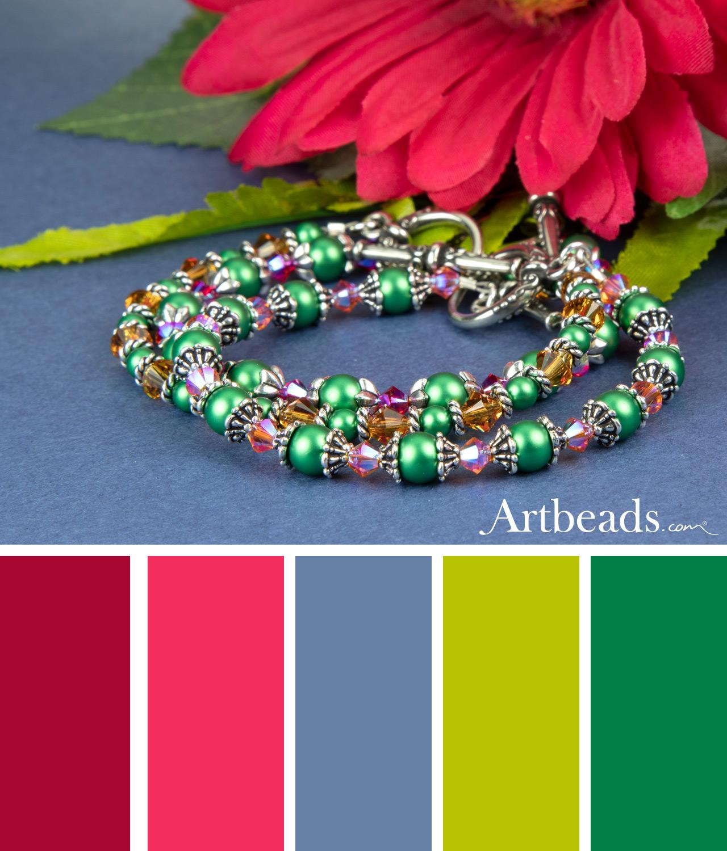 Rainbow Falls Bracelets Artbeads Spring Color Palette