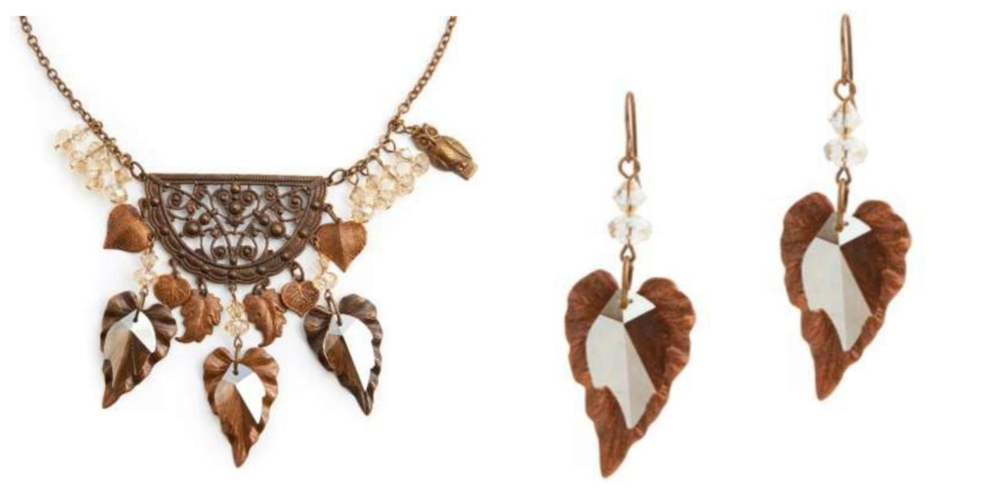 Swarovski Leaf Jewelry
