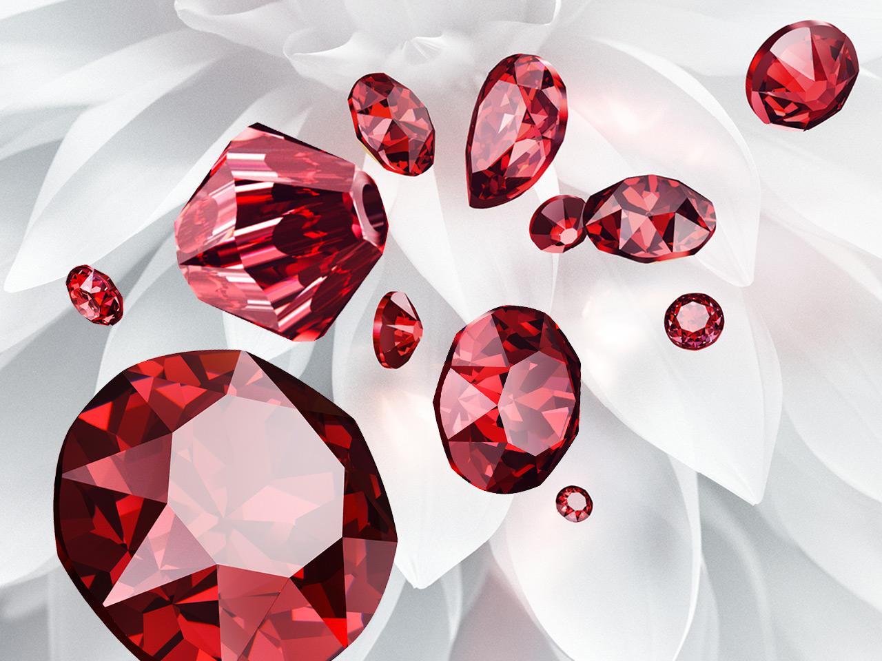 Swarovski Crystal Scarlet Color