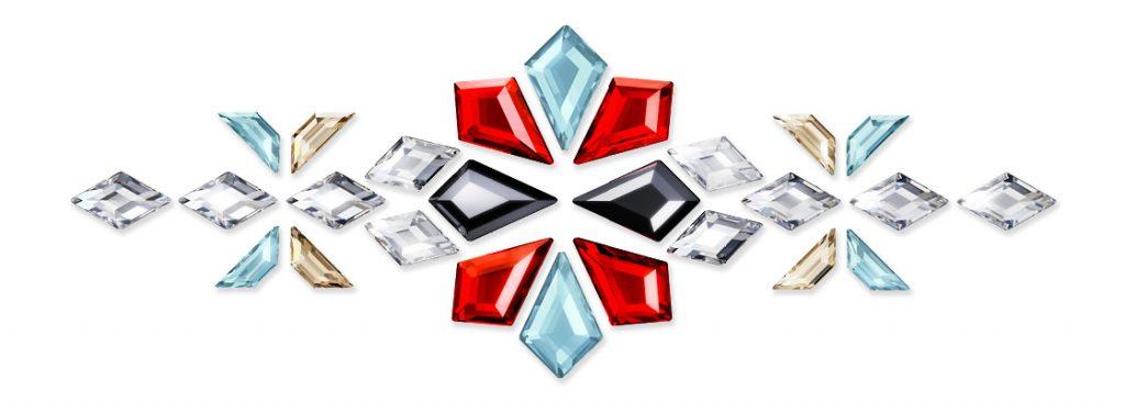 Geometric Flatbacks - Kit, Trapeze, and Diamond Shapes