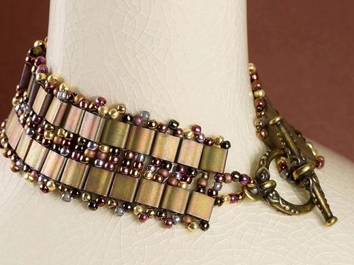 Two-Hole Tila Bead Bracelet