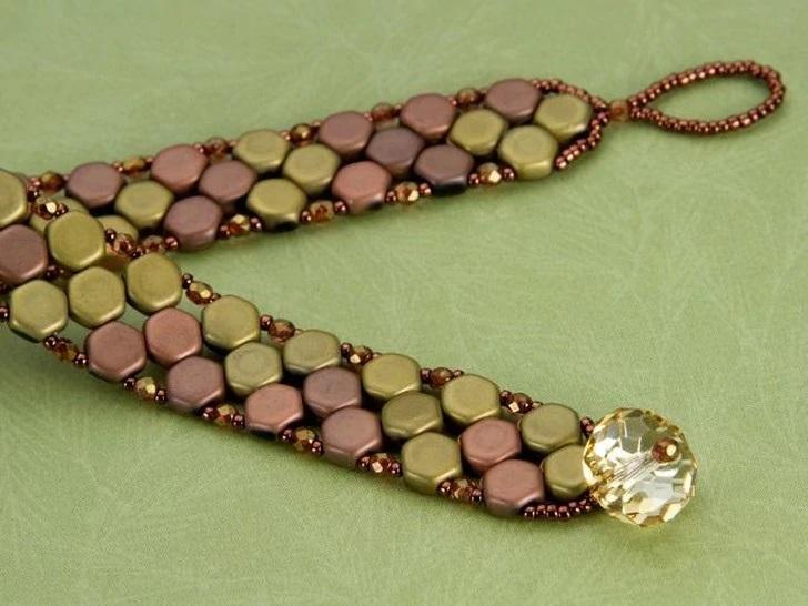 Honeycomb Beads Bracelet