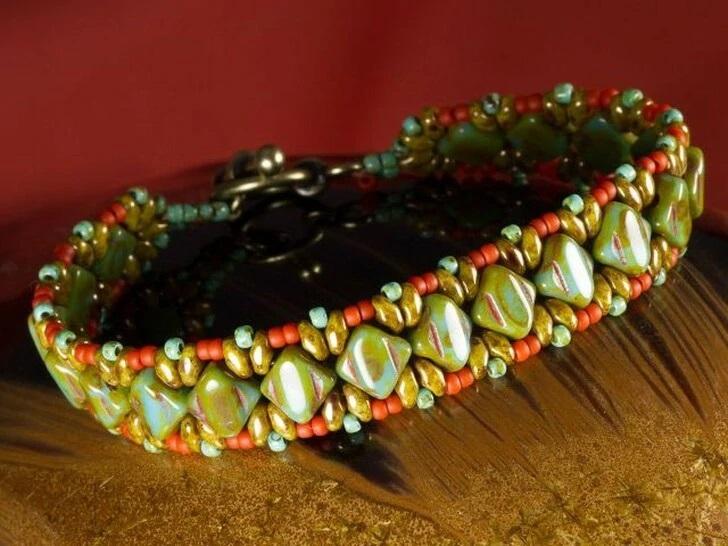 Silky Diamond Bead Bracelet