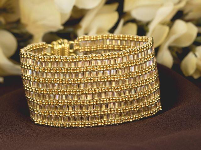El Dorado Bracelet with TOHO Hex beads