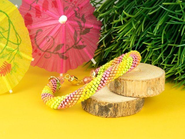 Citrus Twist Crochet Bracelet