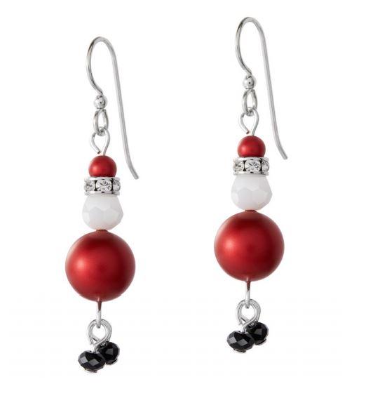 Swarovski Santa Earrings